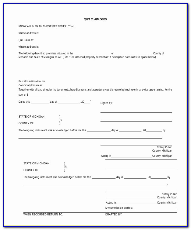 Quit Claim Deed Form Fresh Sample Quick Claim Deed Form 8 Examples In Pdf Word