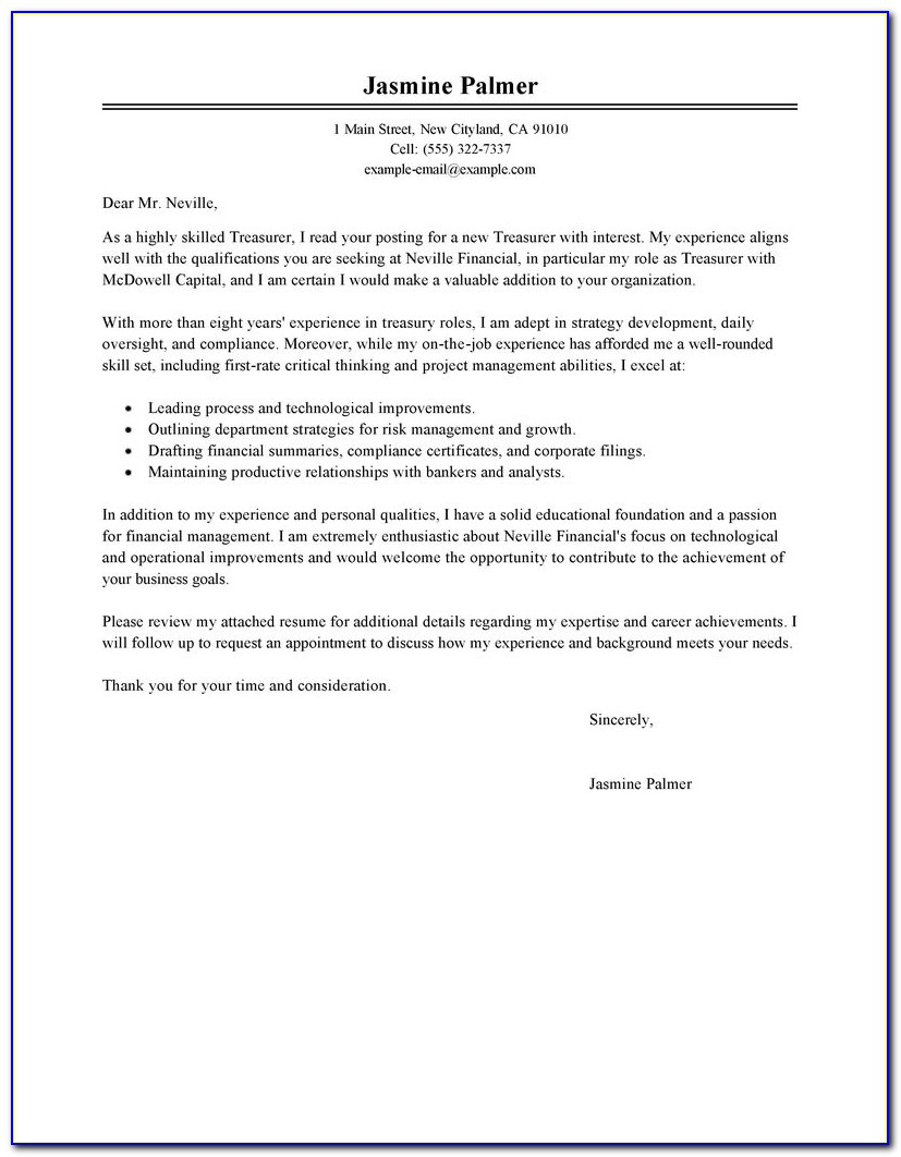 Sample Cover Letter For Internet Job Posting