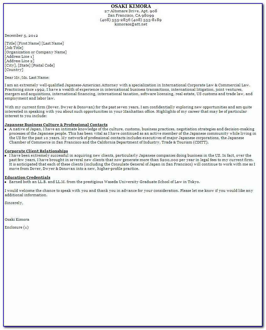 Sample Cover Letter For Online Job Posting