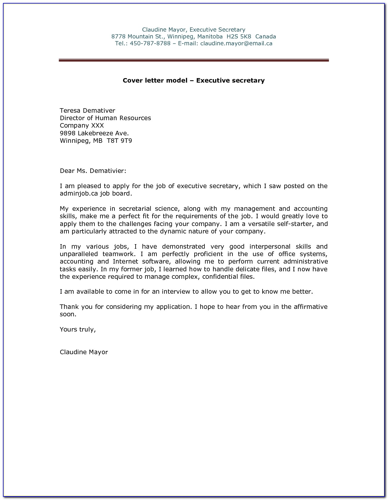 Sample Cover Letter In Email For Job Application With Regard To Job Application Email Template