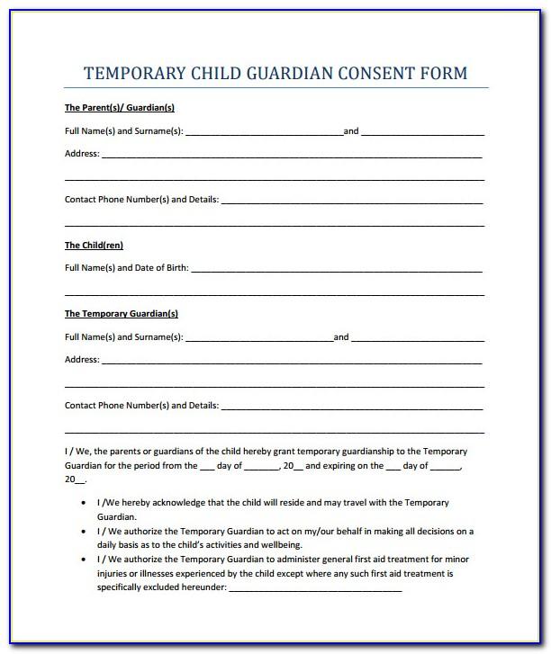 Temporary Guardianship Forms Texas