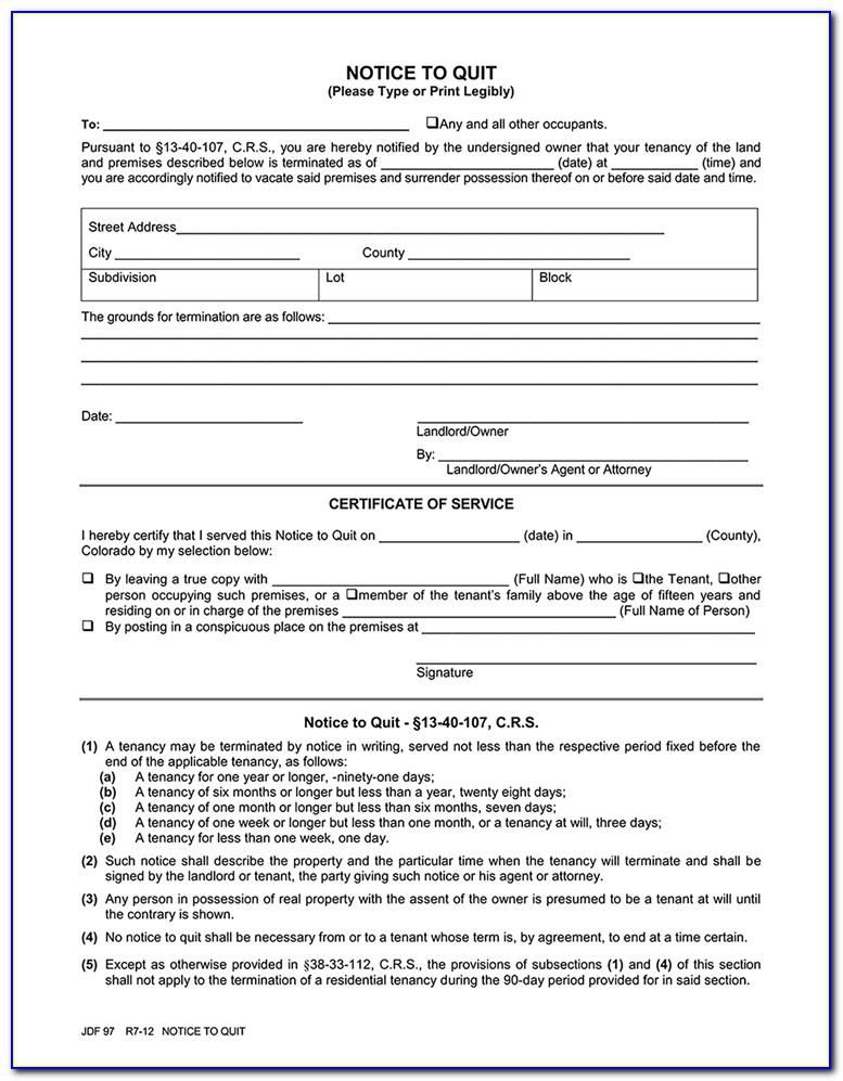 Three Day Eviction Notice Form California