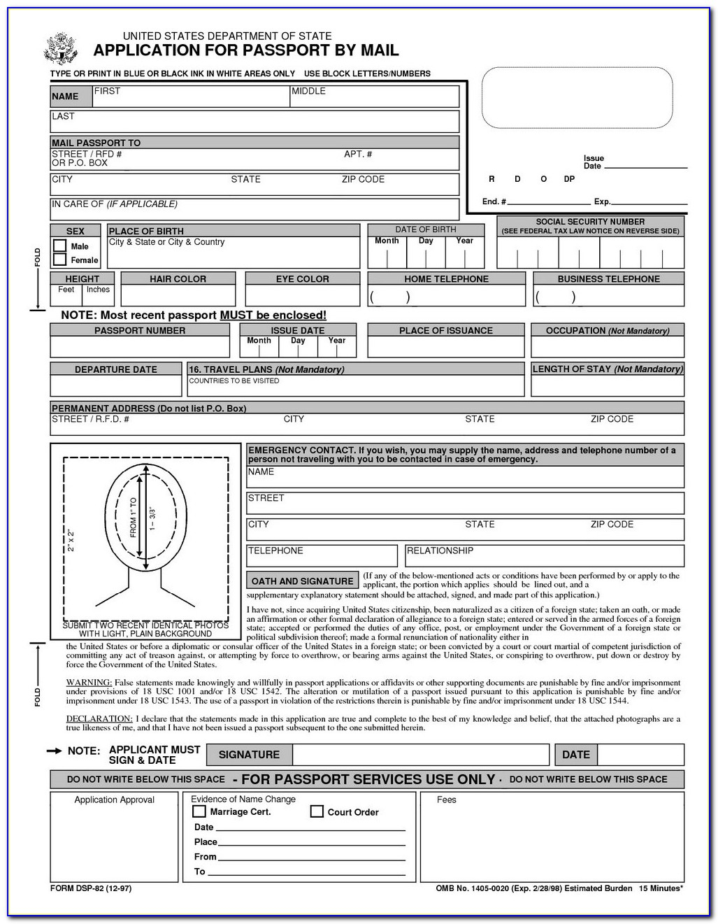 Ds 82 Fillable Form Download