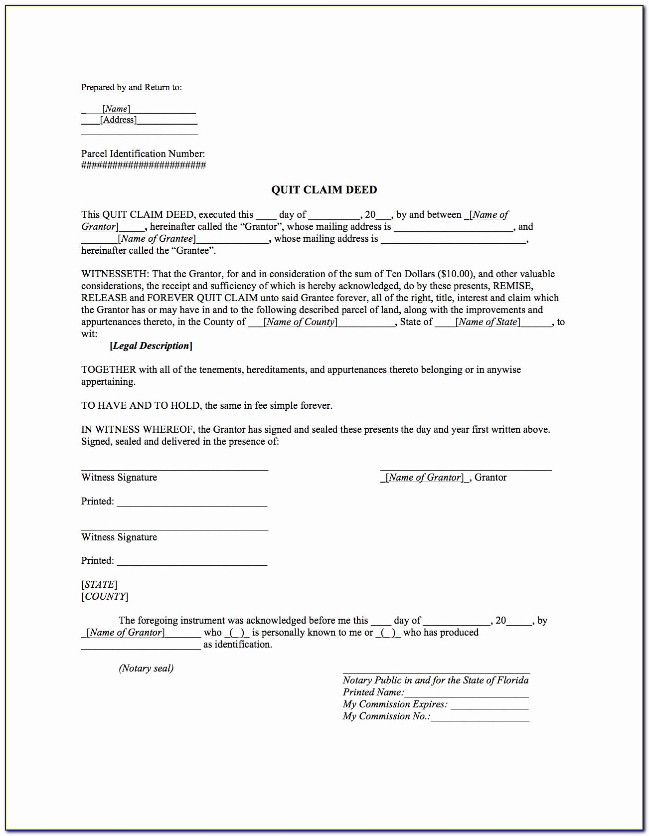 Quitclaim Deed Template Awesome Quit Claim Deed Template ? Boardwalk Legal Aids