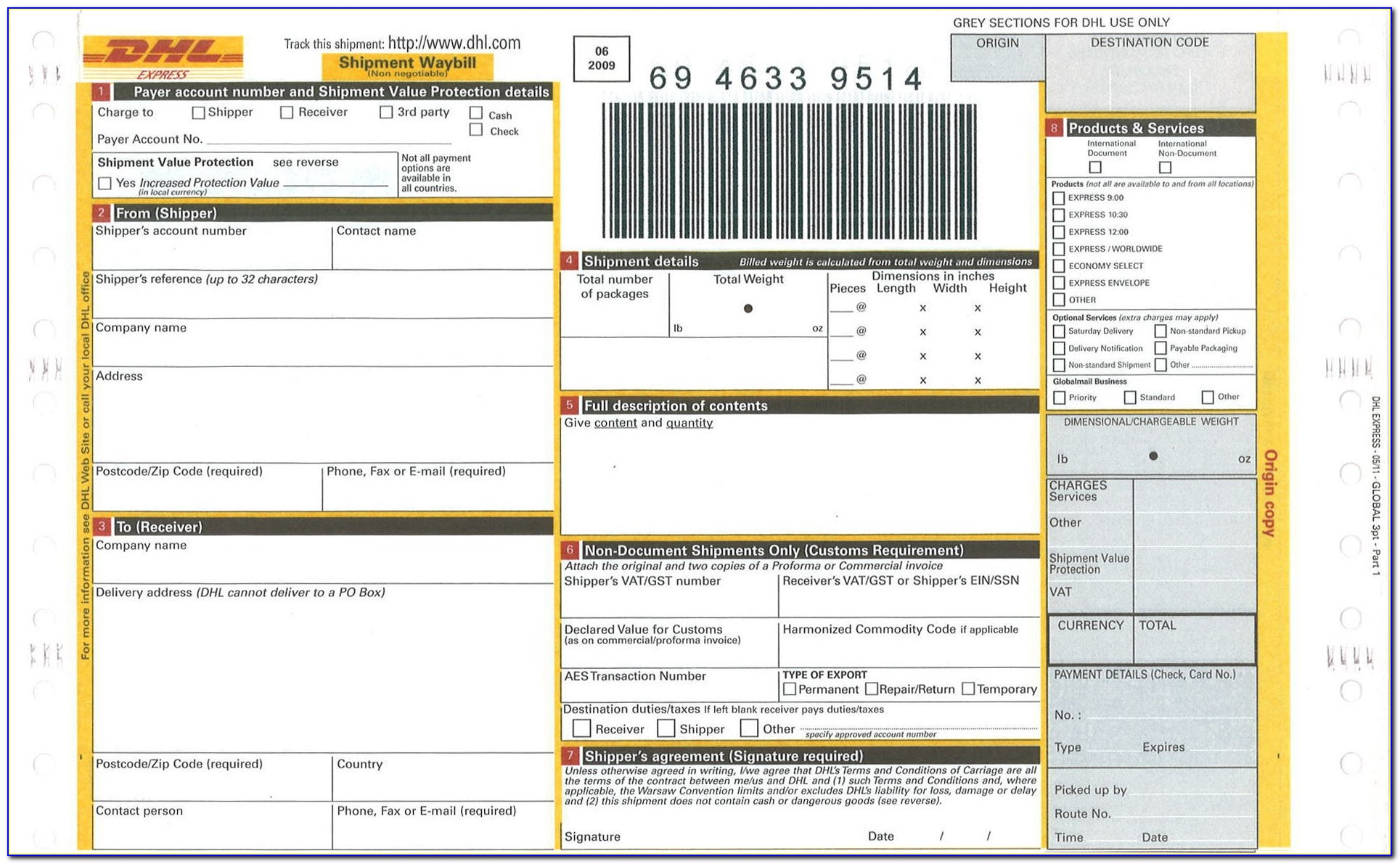 Dhl Shipping And Receiving Csu Chico Dhl Invoice Form