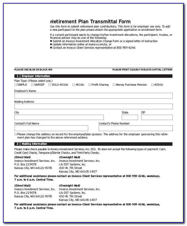 Financial Planning Forms Retirement
