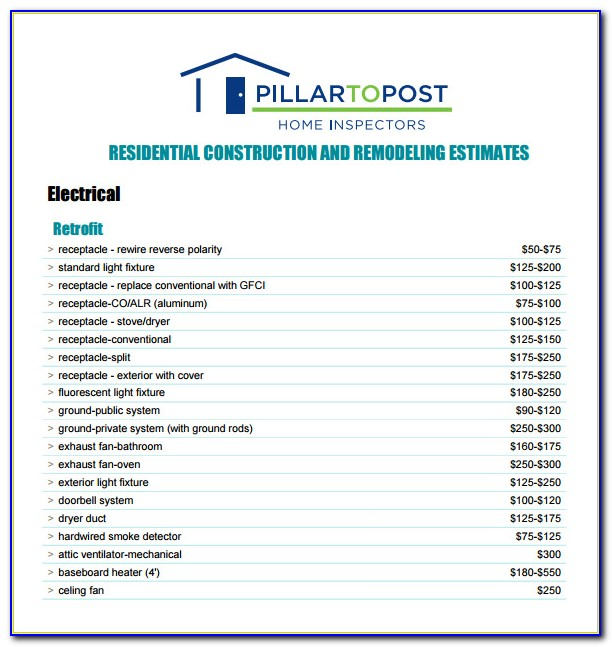 Free Contractor Estimate Template Pdf