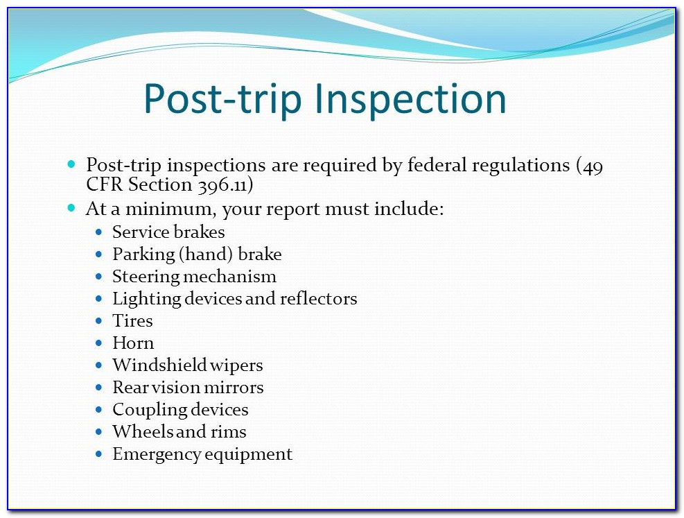 Free Pre Post Trip Inspection Forms