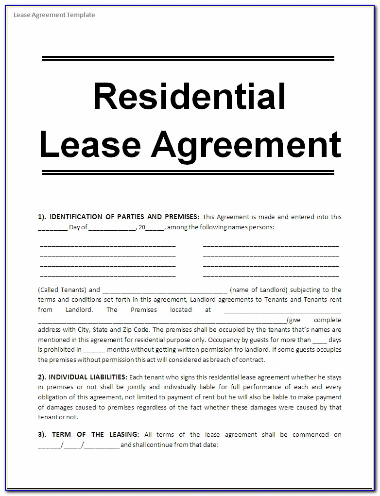 Free Rental Lease Agreement Forms California Form Resume