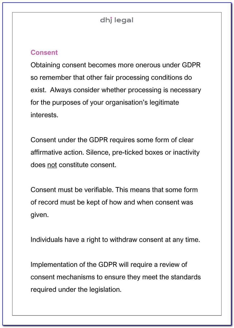 Gdpr Consent Form Pdf