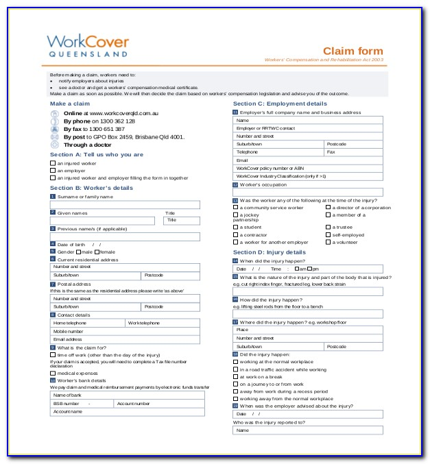 How To Fill Out A Workers Compensation Form