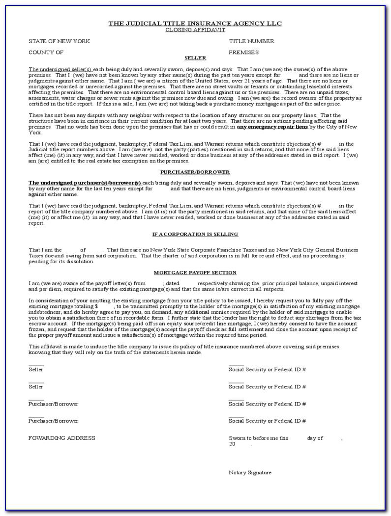 Ny Dmv Affidavit Form
