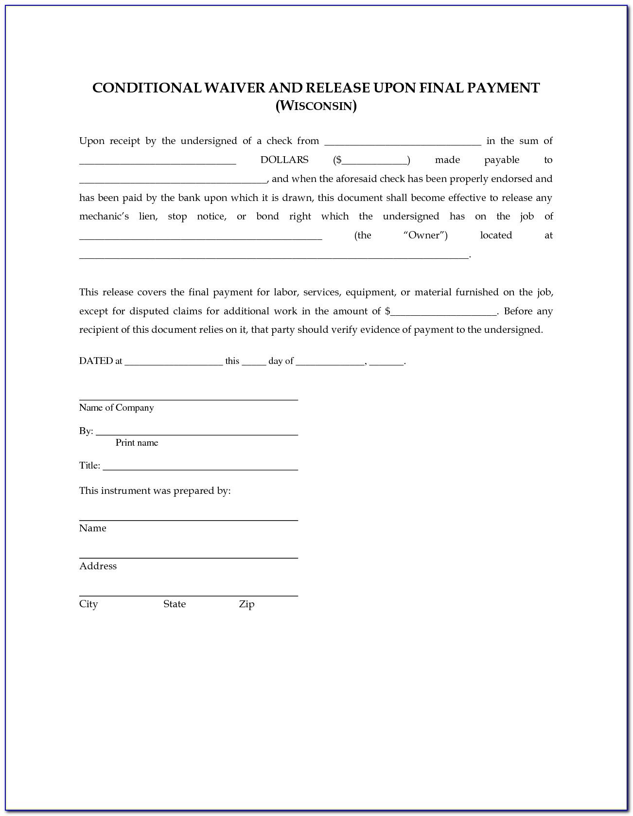 Partial Lien Release Form Texas