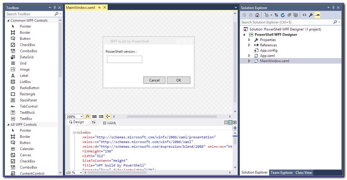 Powershell Ise Form Builder