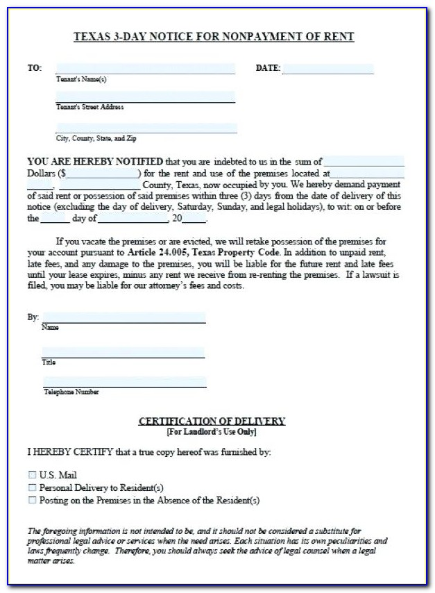 Print Free Eviction Notice Forms