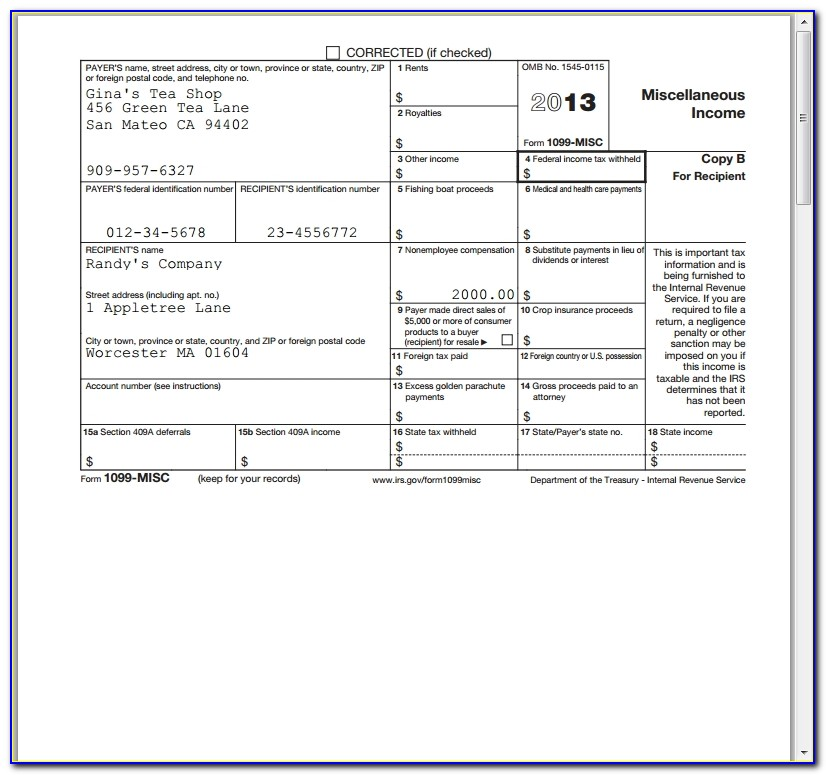 Intuit 1099 E File Service | Quickbooks App Store Pertaining To Free Printable 1099 Misc Forms