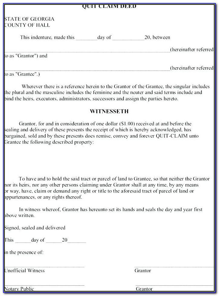 Quick Claim Deed Form Oklahoma Free