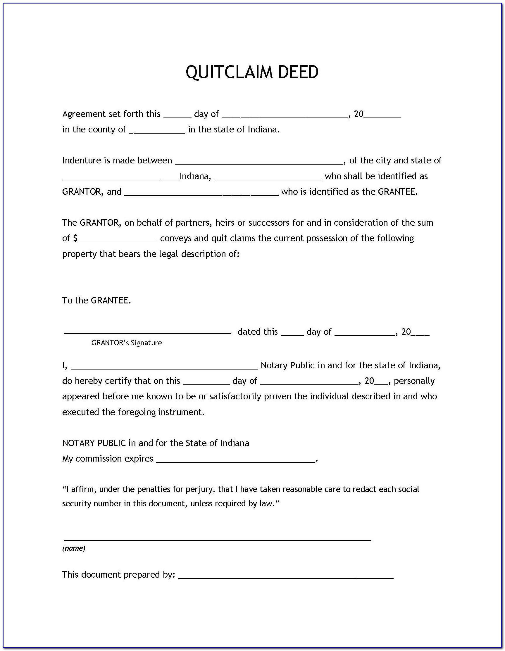quick claim deed form georgia  Quit Claim Deed Form Forsyth County Georgia - Form : Resume ...