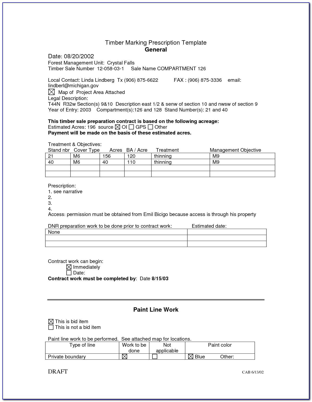 Sample Painting Bid Proposal Form