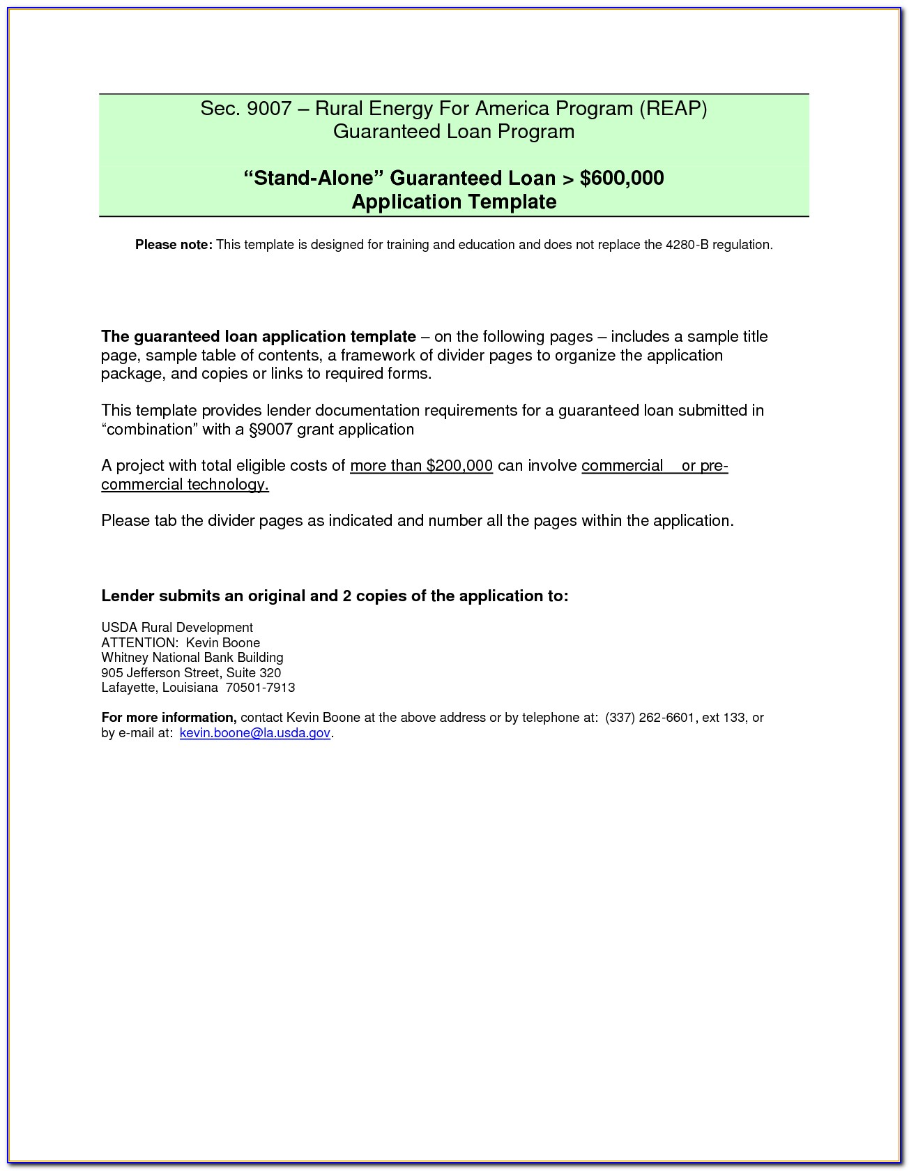 Sample Simple Loan Agreement Form