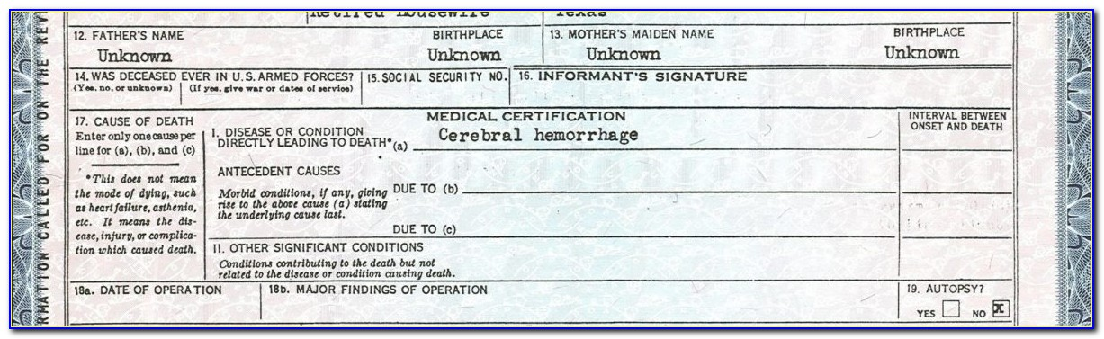 Texas Birth Certificate Formats