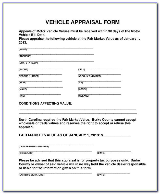 Truck Appraisal Form