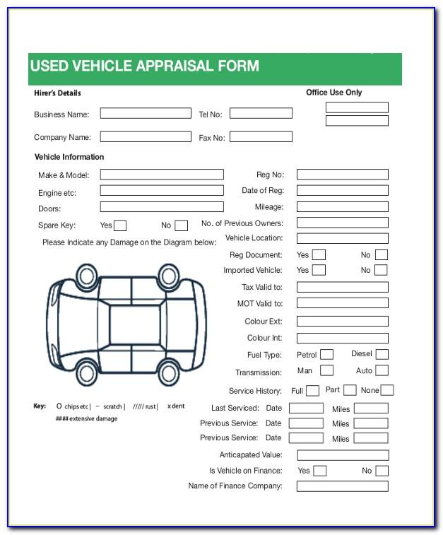Vehicle Appraisal Form