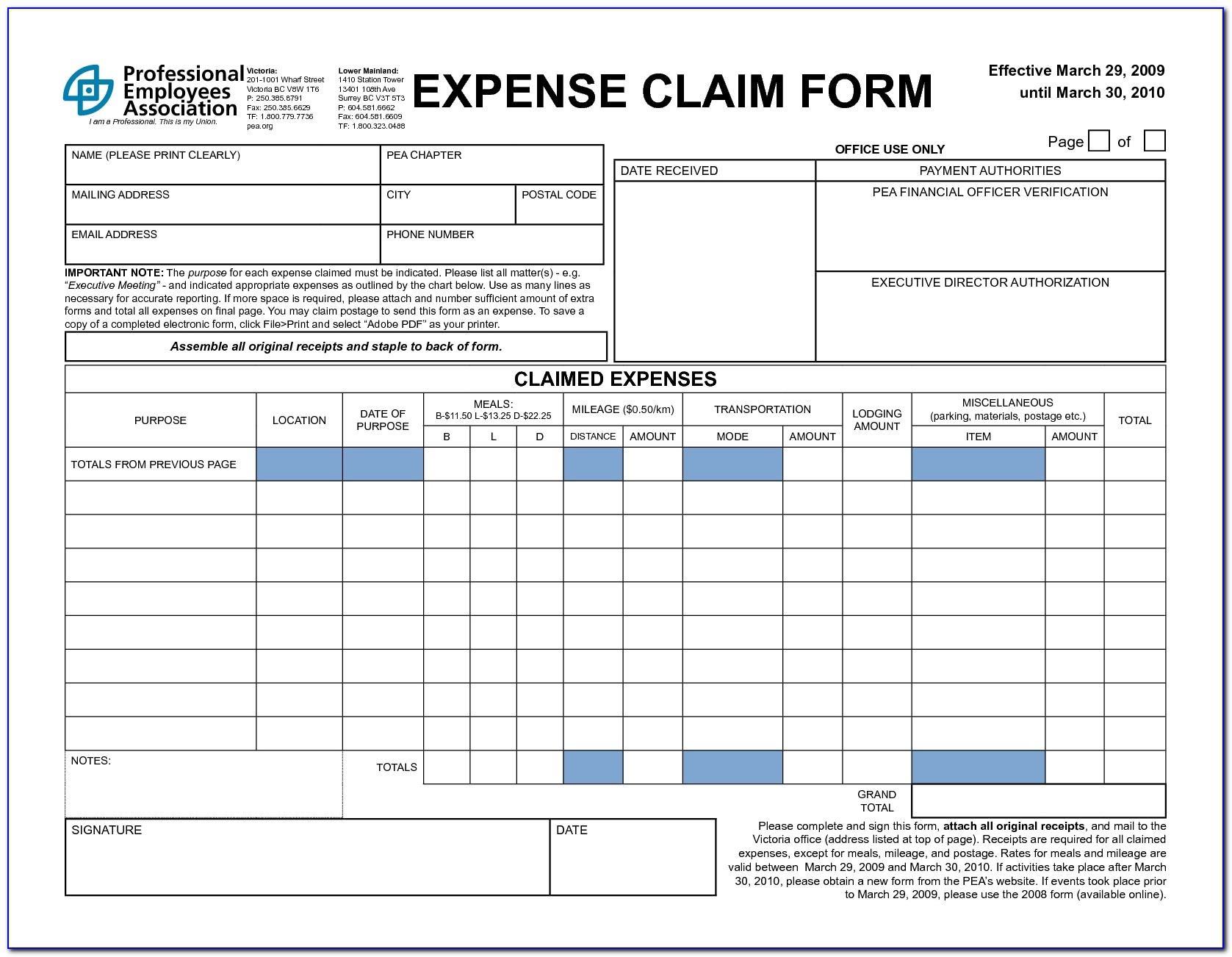 4 Expense Claim Form Templates Excel Xlts Sample Clain Template With Expense Claim Form Excel