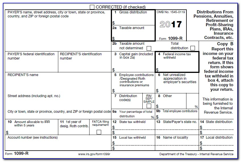 1099 Employee Form Printable 2017