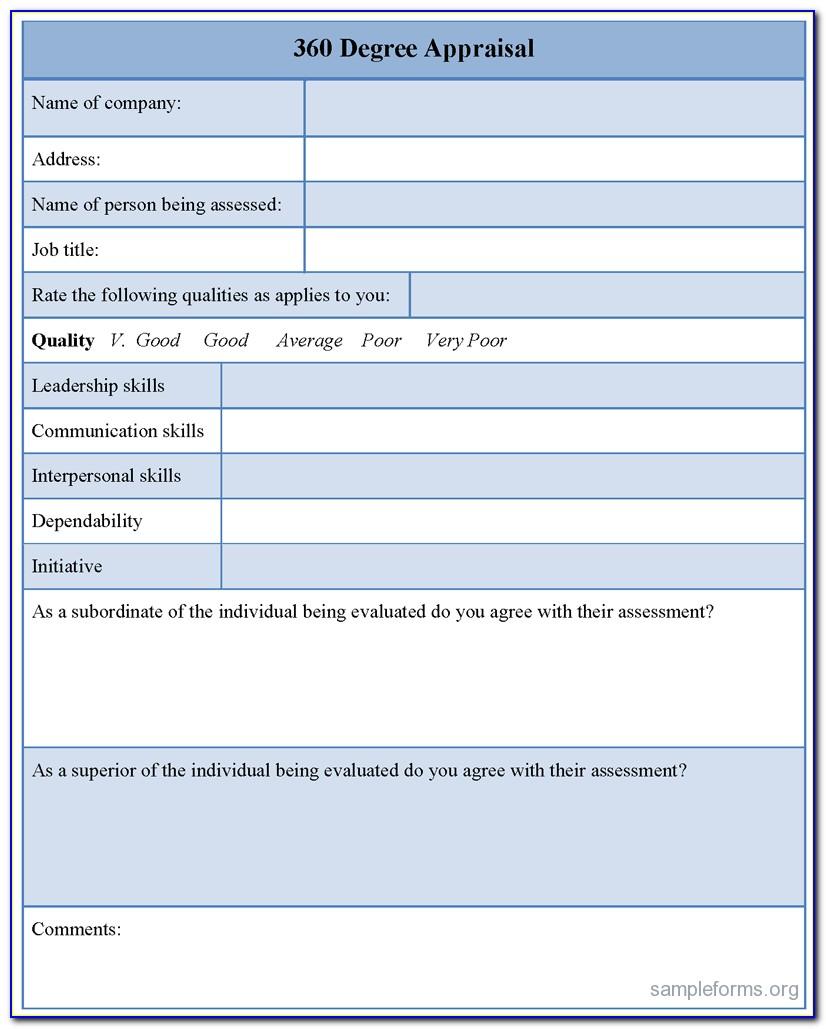 360 Degree Performance Appraisal Form