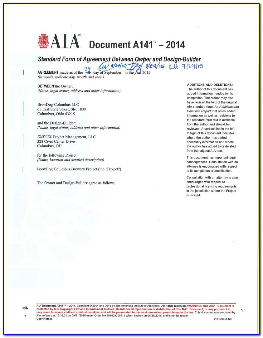 A305 Contractor's Qualification Statement Form