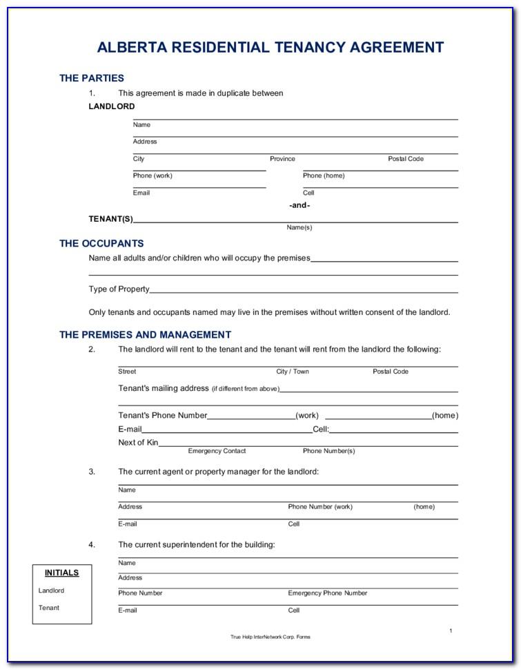 Alberta Rental Documents