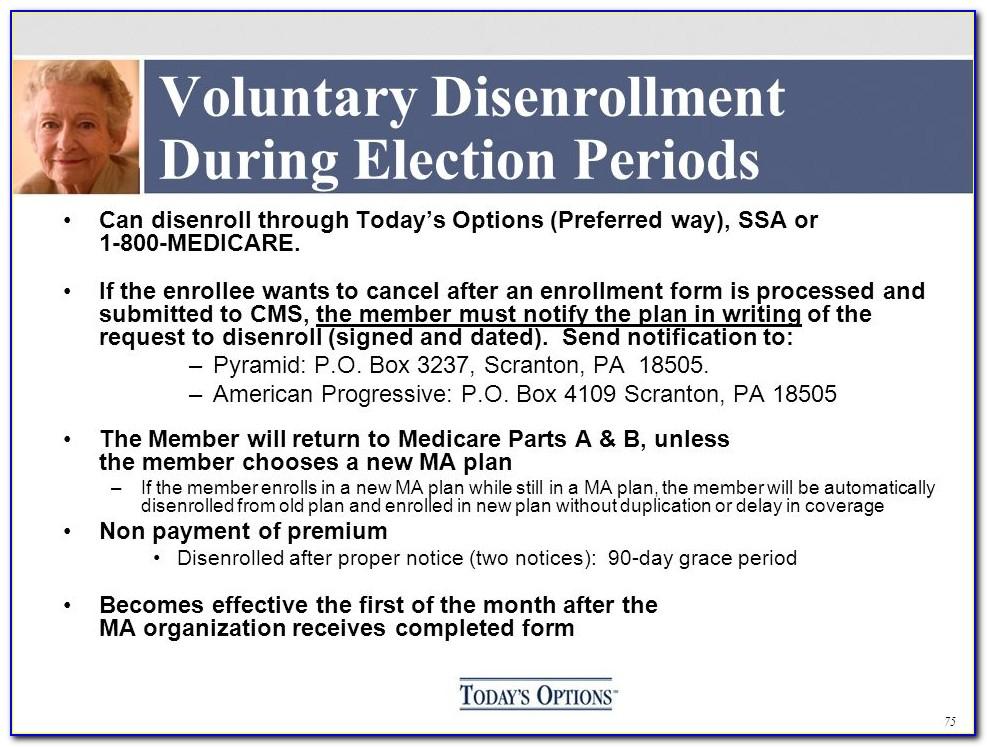 Bcbs Medicare Advantage Disenrollment Form