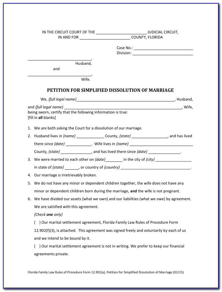 Broward County Divorce Forms