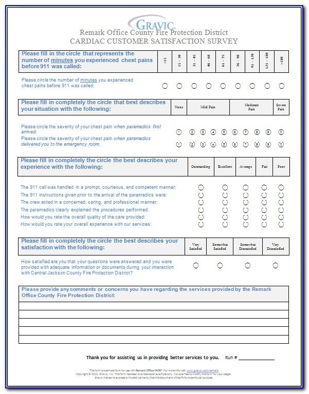 Customer Satisfaction Survey Form For Restaurant