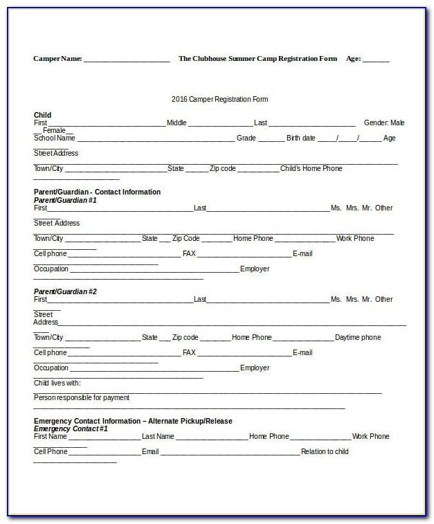 Dance Workshop Registration Form Template