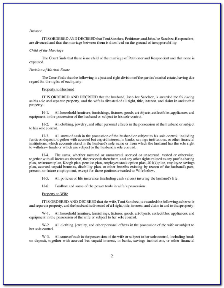 Decree Of Divorce Form Kansas