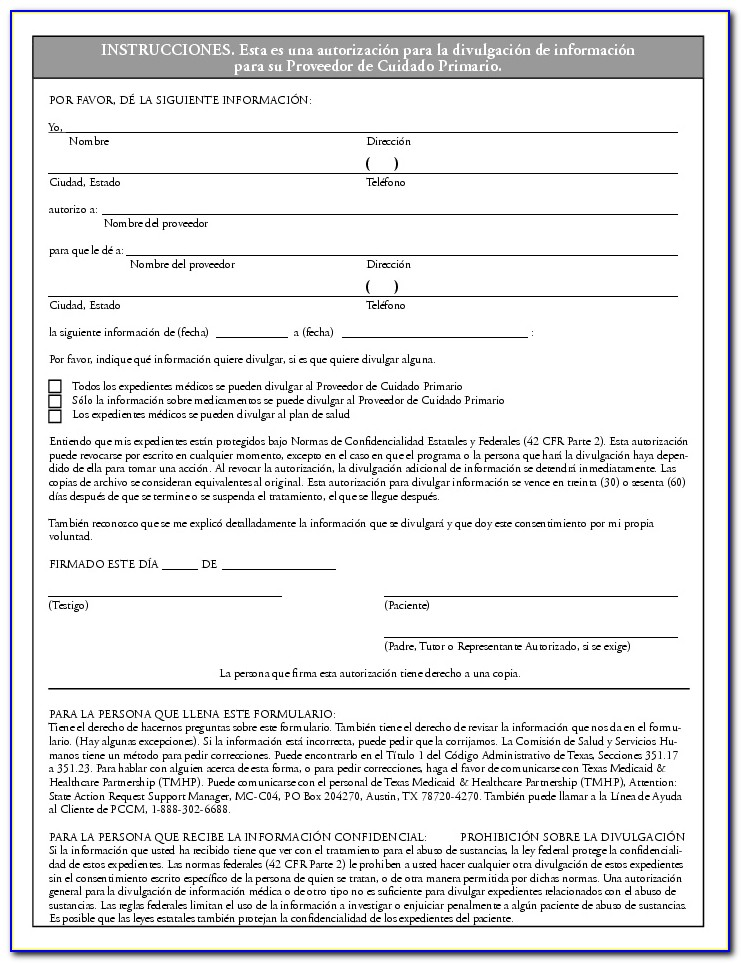 Denture Consent Form In Spanish