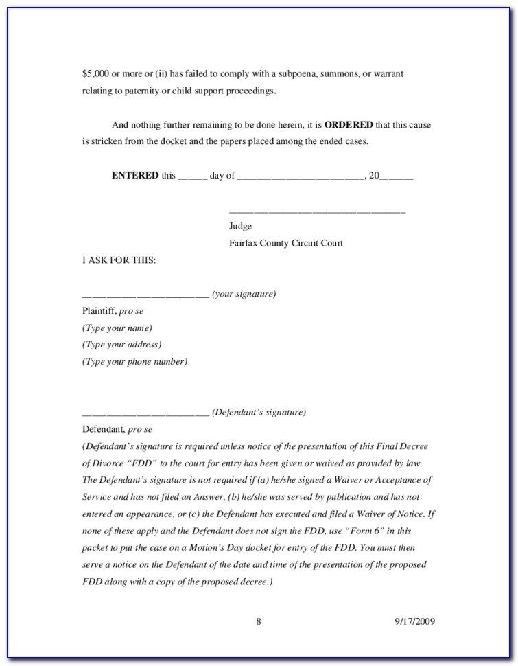 Fairfax County Juvenile Court Forms