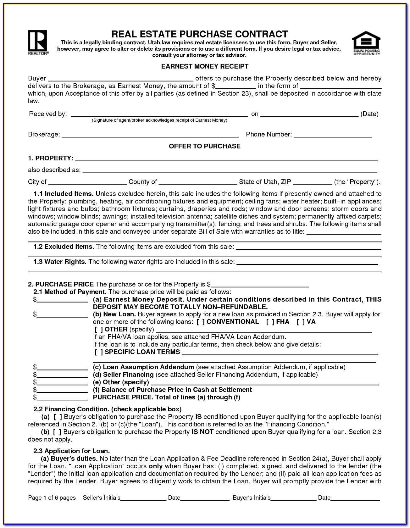 Florida Commercial Real Estate Contract Form