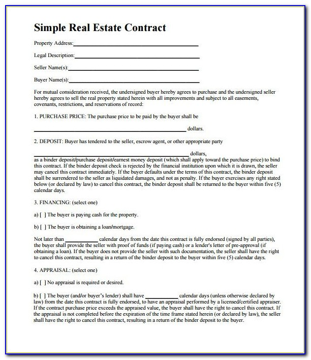 7+ Real Estate Contract Templates – Free Word, Pdf Format Download Intended For Free Printable Real Estate Purchase Agreement