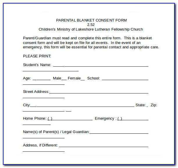 Free Medical Consent Form Printable