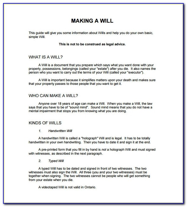 Sample Last Will And Testament Form 8+ Example, Format In Free Printable Last Will And Testament Forms