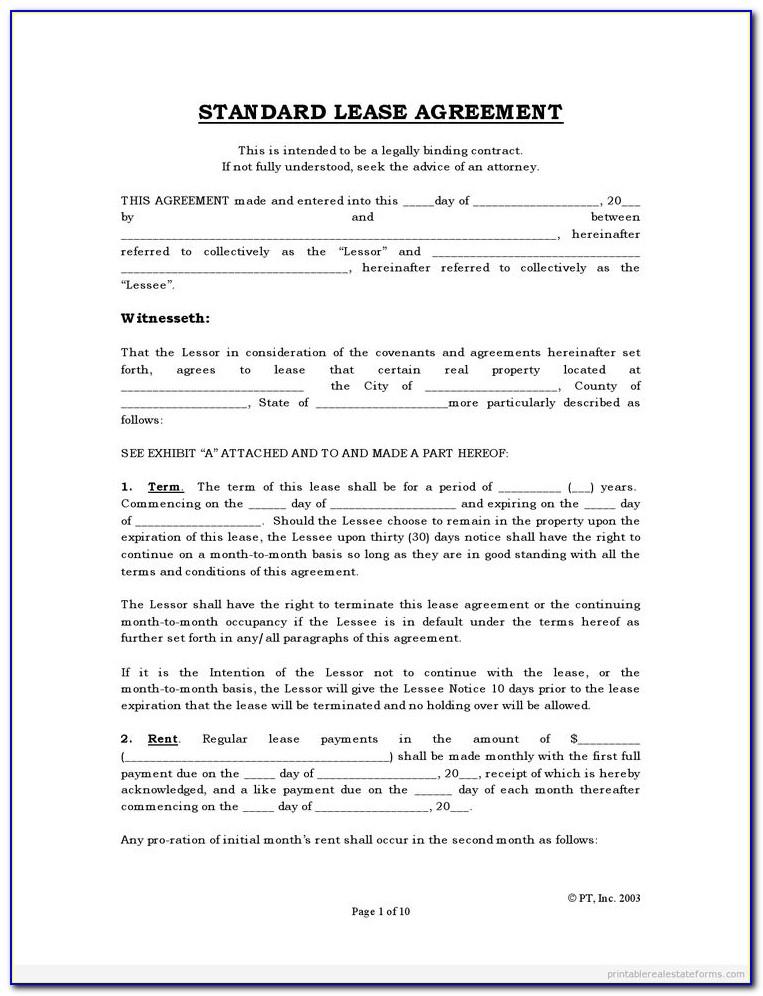 Free Tenancy Agreement Form Ireland