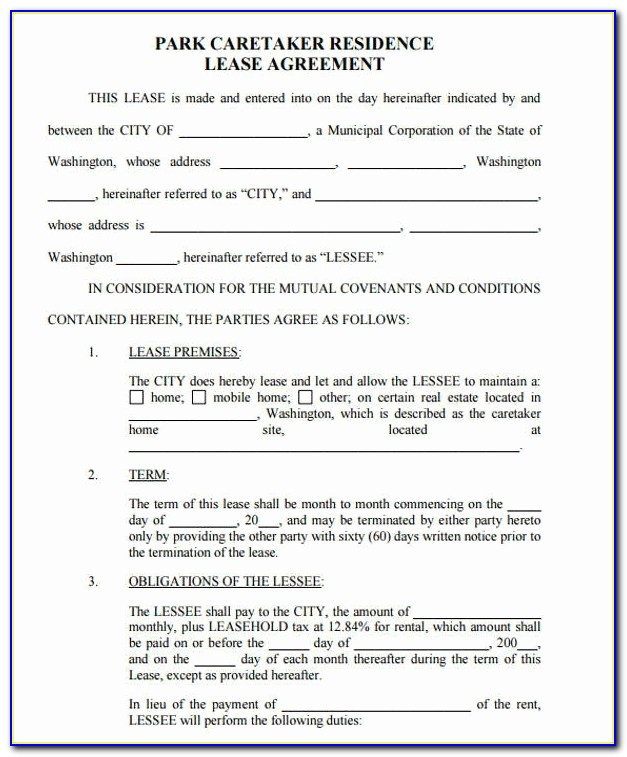 Lease Agreement Indiana Unique Mobile Home Lease Agreement Create A Free Rental Form 2 Download