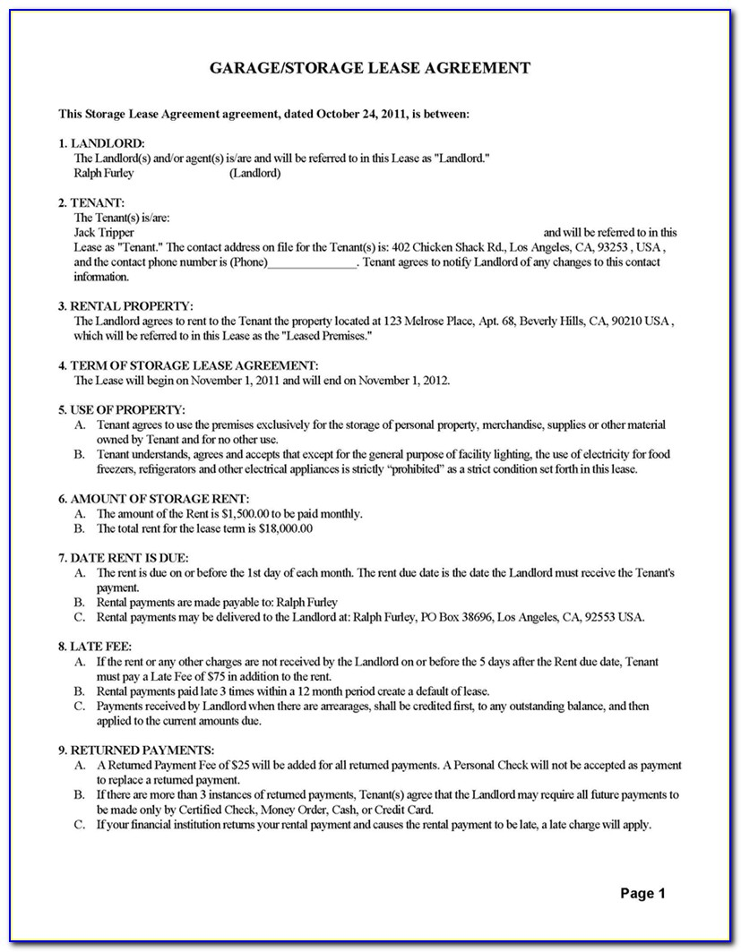 Legal Rental Contract Forms