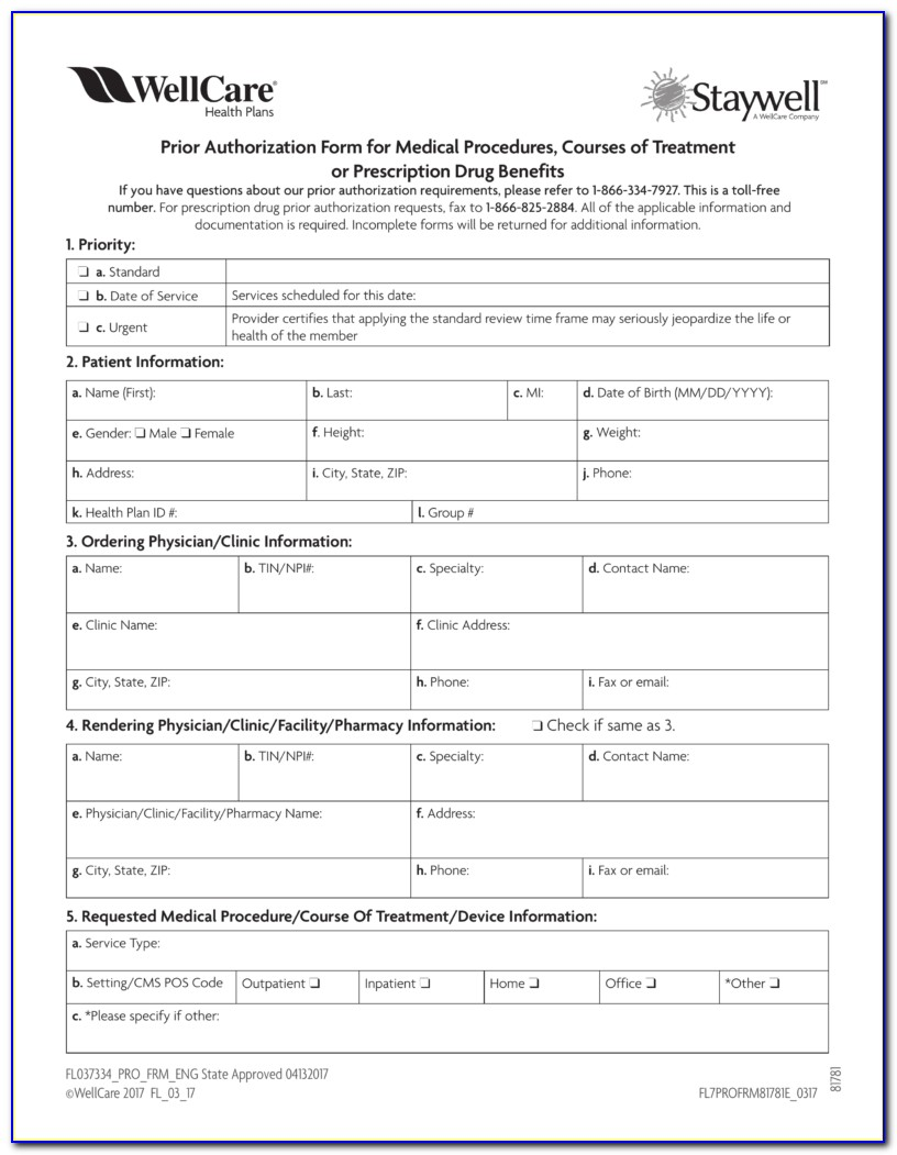 Medicare Part D Coverage Determination Request Form Fax Number