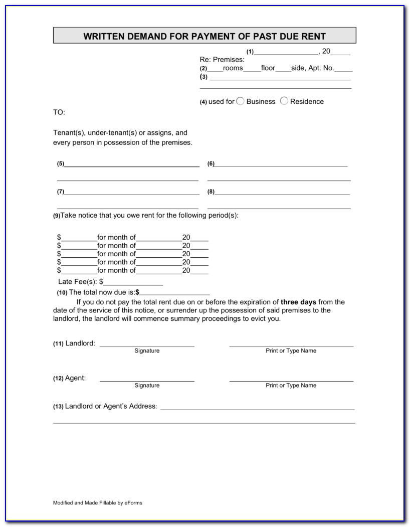 Nys 3 Day Eviction Notice Form