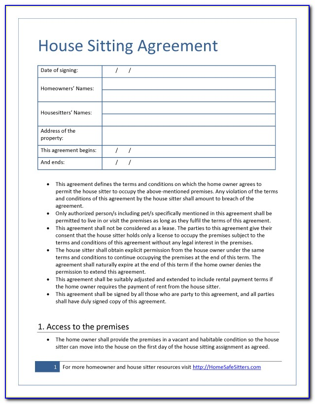 Pet Boarding Contract Form