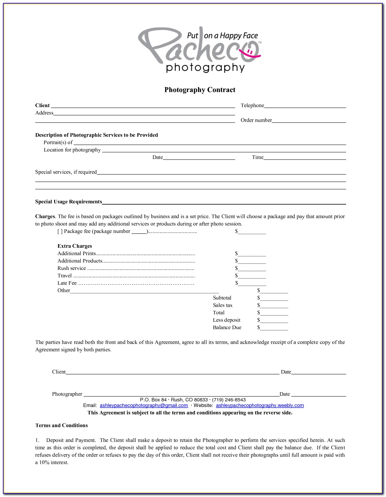 Photography Consent Form Template Uk Gdpr